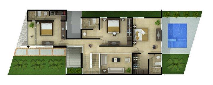 Planos de casas y plantas arquitect nicas de casas y for Plantas modernas para jardin