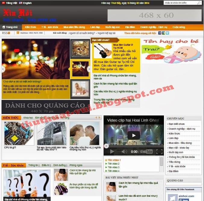 Share Template M-BNews blogger, mẫu tin chuyên nghiệp xinhoi.com