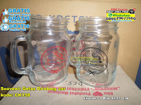 Souvenir Gelas Drinking Jar unik