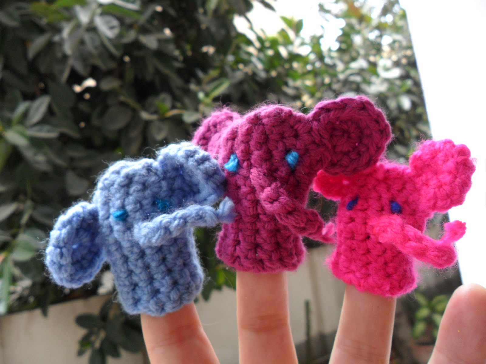 worth a knit: New Pattern: Ellie the Elephant Finger Puppet