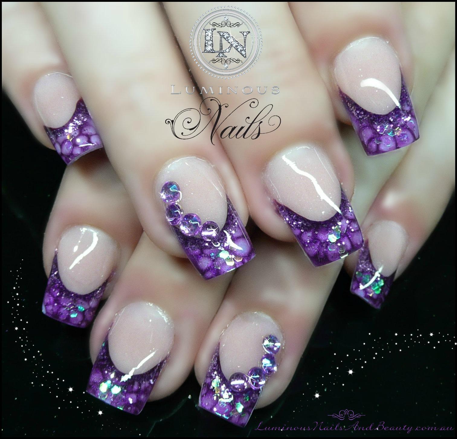 Acrylic Nail Designs Lavender: Mind blowing acrylic nail art ideas ...