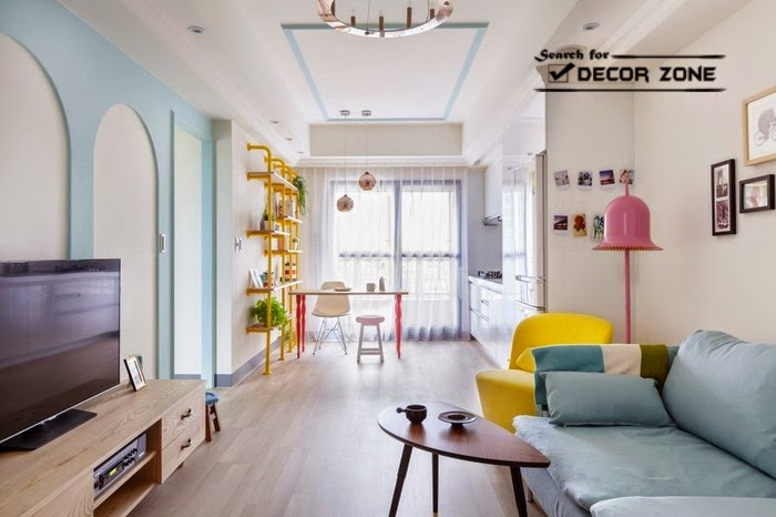 Colorful studio apartment design in Taiwanese city