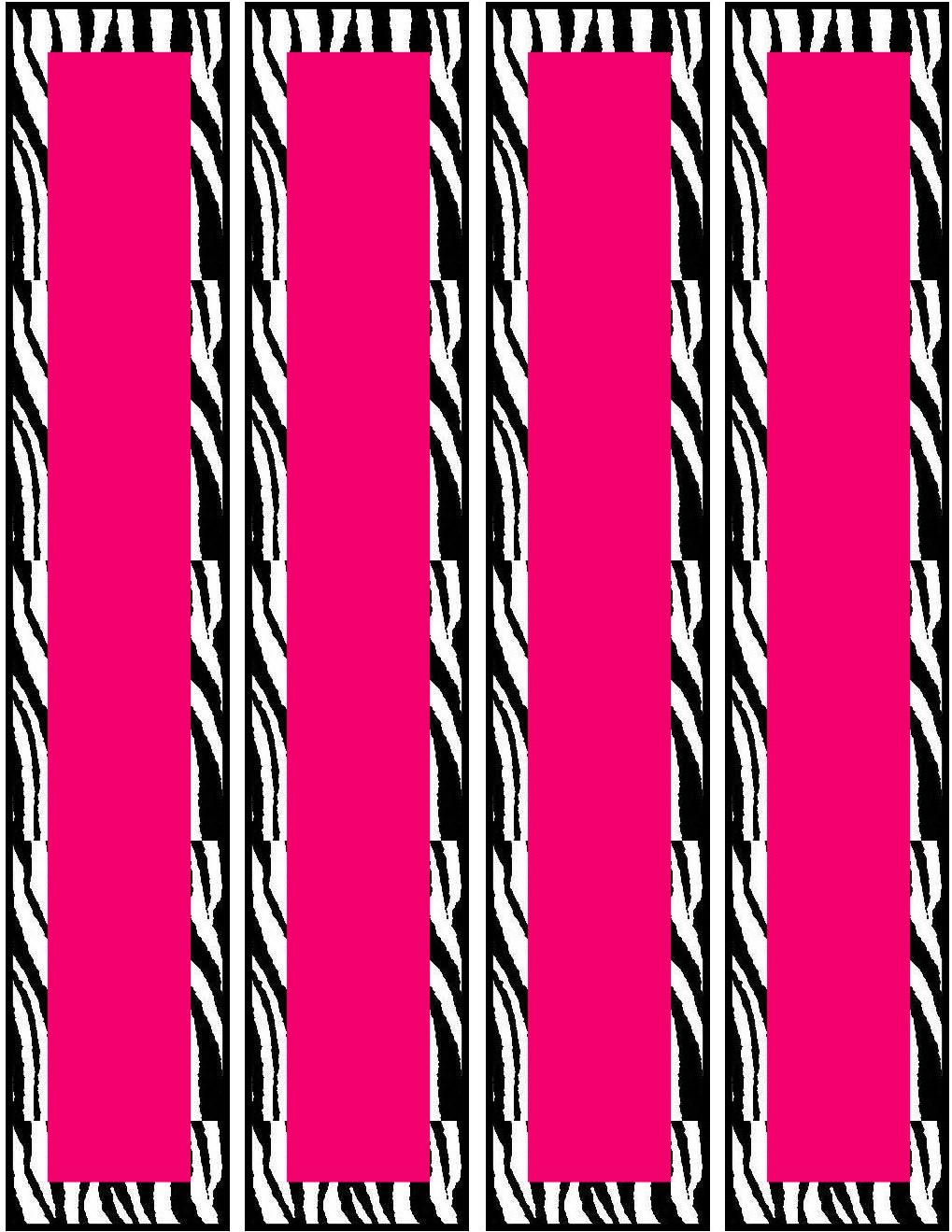 Free Printable Blank Pink Zebra Water Bottle Templates