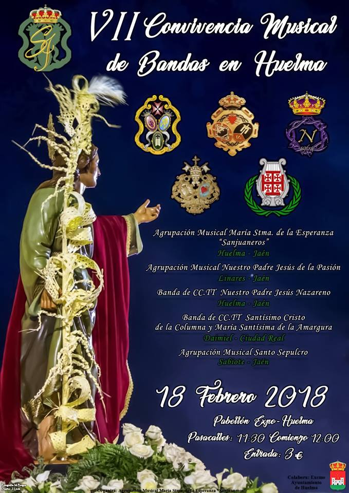 DOMINGO 18 FEBRERO. VII CONVIVENCIA MUSICAL DE BANDAS EN HUELMA 2018