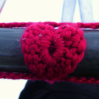 Yarn Bombing, Valentines, #SheepishHeartBomb