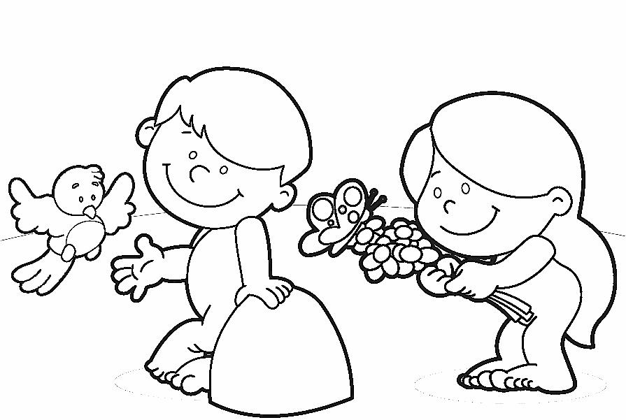 Ad n y eva compartiendo por amor for Adan y eva en el jardin del eden para colorear