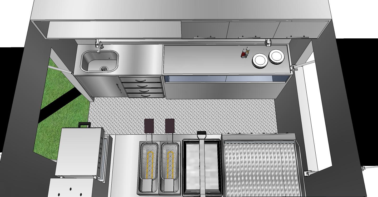 Cozinha Industrial Simples Decorao Industrial Imagem Cozinha