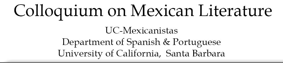 XXII Colloquium on Mexican Literature