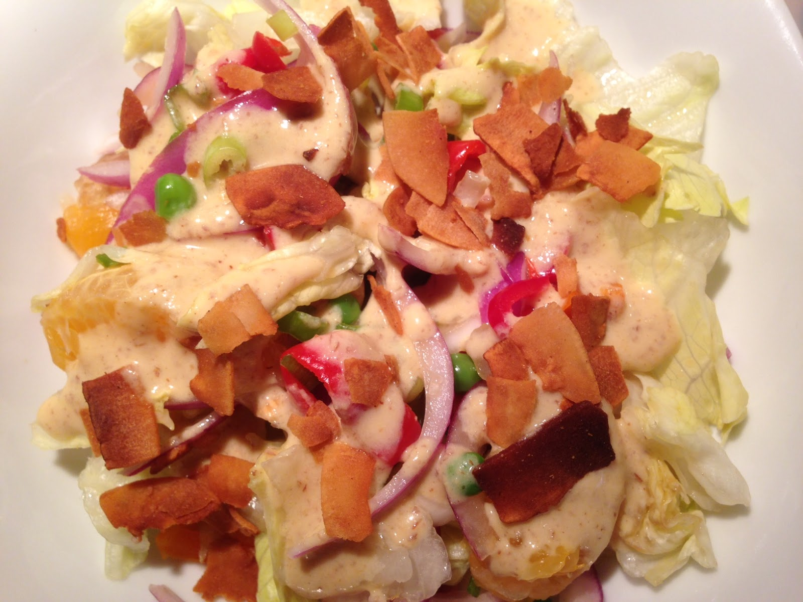 Ensalada de lechuga estilo oriental con aderezo de jengibre y mostaza vegan latino - Diferentes ensaladas de lechuga ...