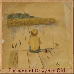 Watercolor Painting Of Thomas Painted By His Father In 1957