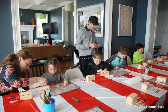 Pirate birthday party- kids decorate their own treasure chests