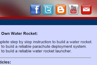 use these water rocket social media badges on USwaterRockets.com to connect with USWR!