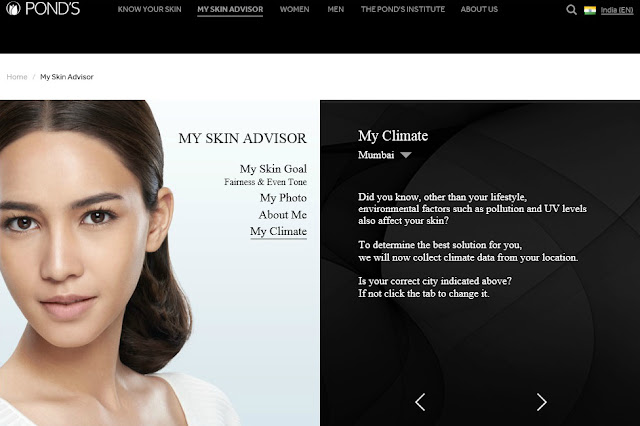 My Skin Advisor, Pond's, Pond's India, Skin Analysis App, Skincare
