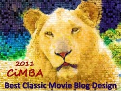 2011 Cimba Best Classic Movie Blog Design: yay!