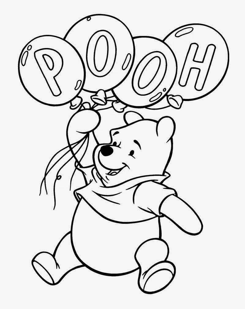 Gambar Mewarnai Winnie The Pooh Gambar Mewarnai Lucu
