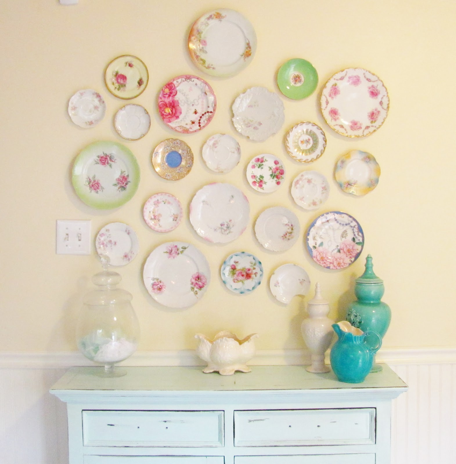 Wall Decor Silver Plates : Silver lining decor vintage plate wall reveal