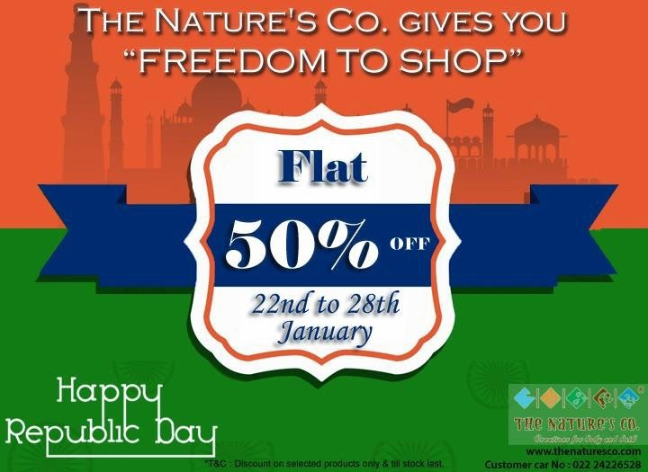 "The Nature's Co. ""Freedom to Shop"" FLAT 50% off - One day to go! image"