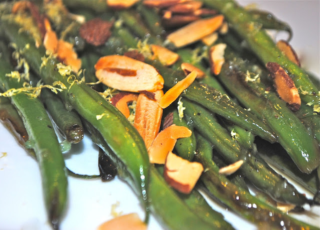Recipe Doodle: GREEN BEANS WITH LEMON AND GARLIC and SWEET POTATOES ...