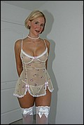 Desirae Spencer white lace teddy