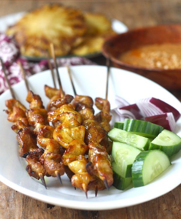 Coconut satay baby back ribs season with spice malaysian chicken satay forumfinder Gallery