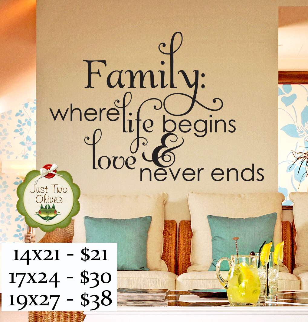 Vinyl Wall Decal - Family life and love