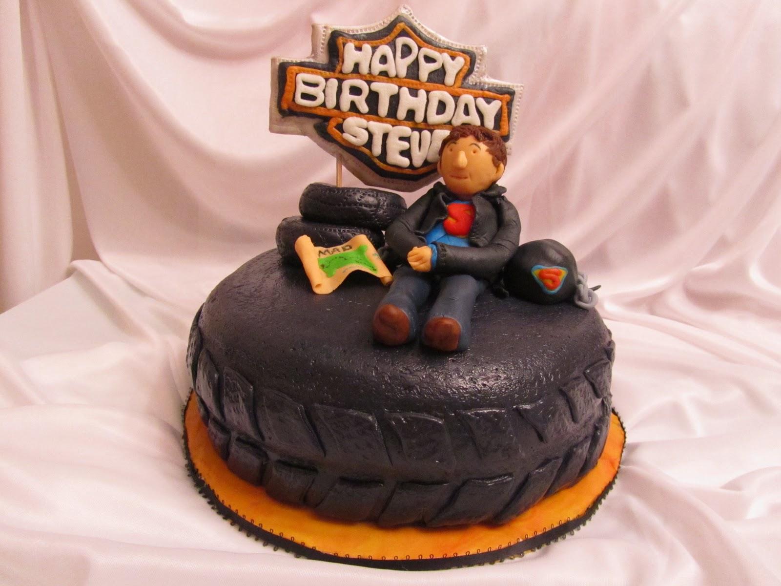 Divine Delicacies Superman And Harley Davidson Cake