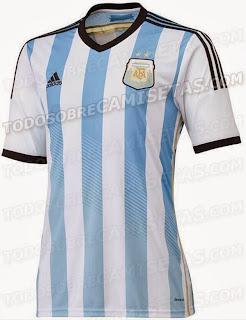 Le maillot de l'argentine de la Coupe du monde 2014