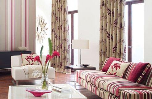 desain ruang tamu pink