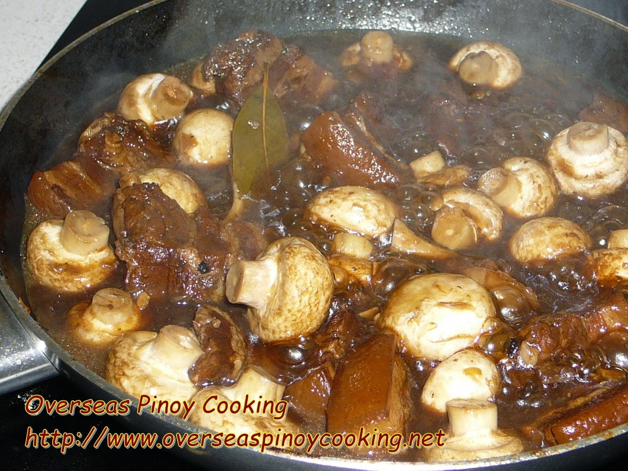 Pork and Mushroom Adobo - Cooking Procedure