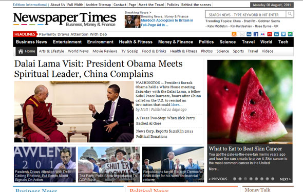 NewspaperTimes - Magazine News Wordpress Theme Free Download by Magazine3.