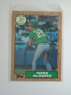 1987 topps rookie card for Mark McGwire