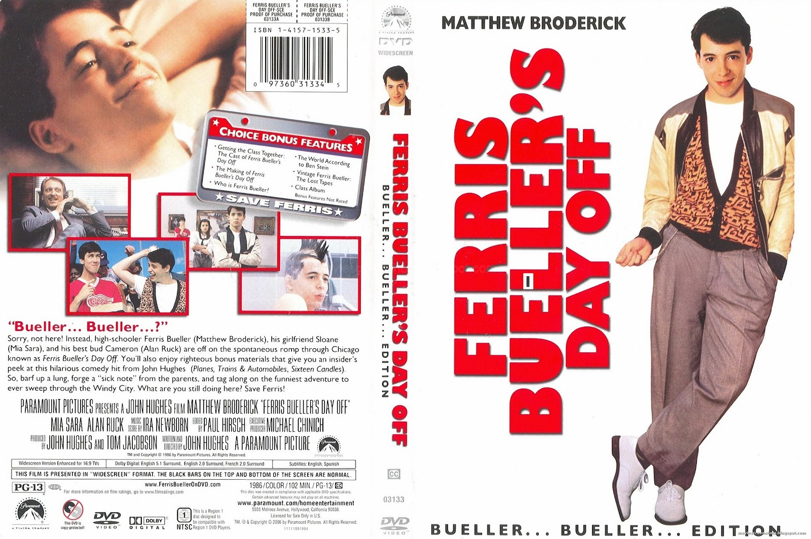 an analysis of the movie ferris buellers day off Bringing the big screen to life with description and analysis of ferris bueller (matthew broderick) in ferris bueller's day off.