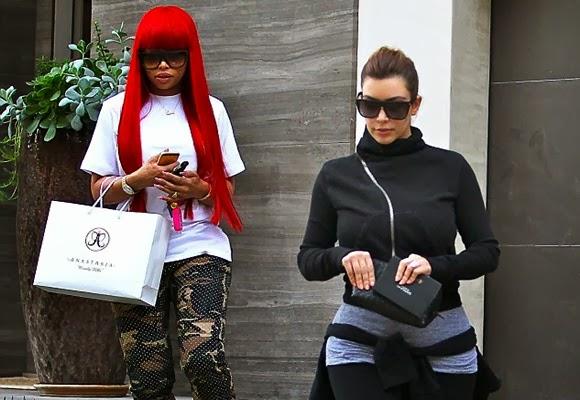 Kim Kardashian Wore Oversized Shades