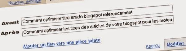 Referencement: Accents et titres de messages et Url sur Blogger