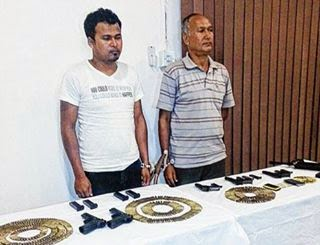 Youth in arms haul a Gorkhaland Personnel (GLP) cadre