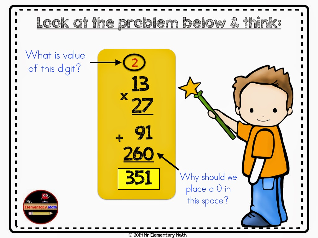 If your students answer the Double Digit Multiplication Strategies