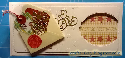 DIY Christmas Card. Marianne Design Col 1337