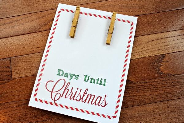 How Many Days Until Christmas: Free Christmas Countdown Printable ...