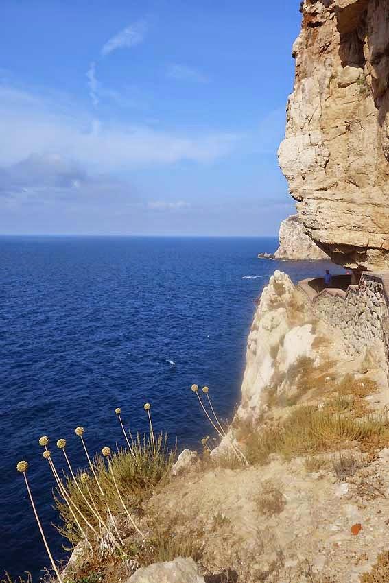 Cappo Caccia - escalier - grotte de Neptune