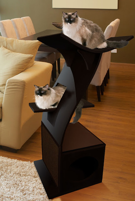 the refined feline lotus cat tower in espresso 2013. Black Bedroom Furniture Sets. Home Design Ideas