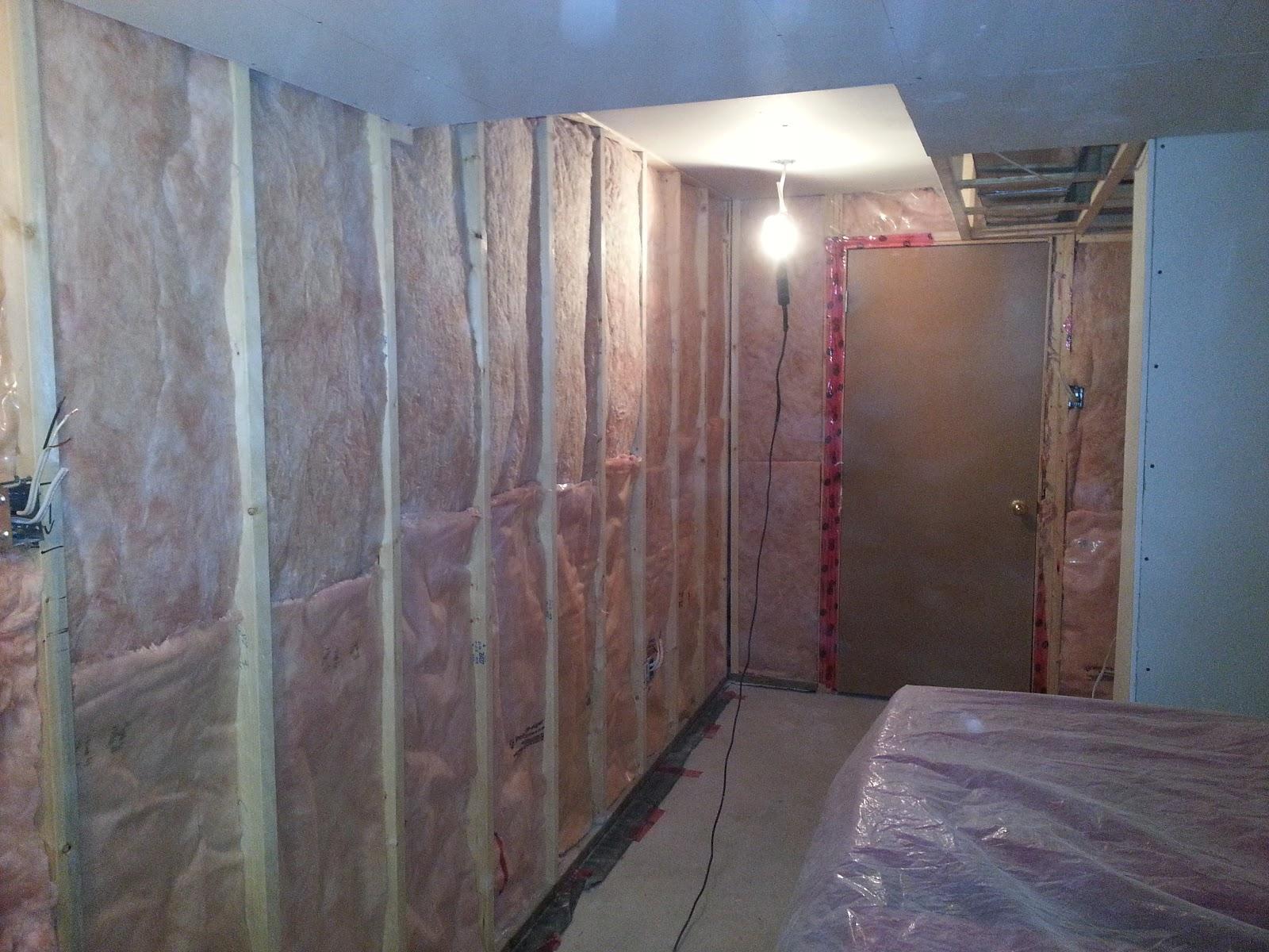 basement project december 9 insulation and vapour barrier