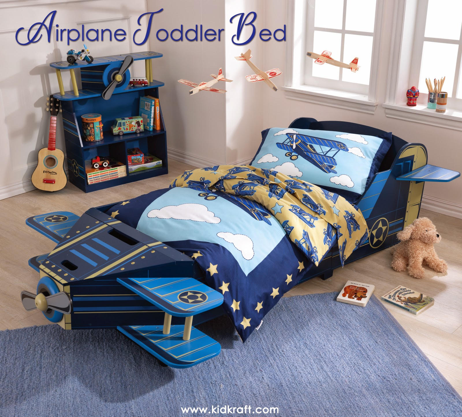 KidKraft Toys Amp Furniture Airplane Toddler Bed