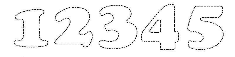 Girotondo di bimbi impara i numeri unisci i trattini e colora - Colore per numeri per i bambini ...