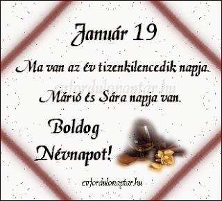 Január 19, Márió, Sára névnap
