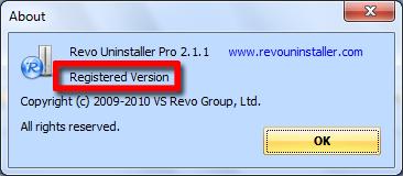 Revo Uninstaller Pro 2.1.1 + Crack 3