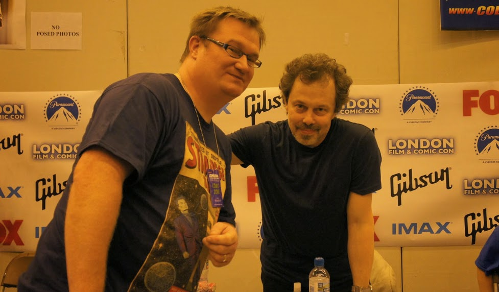 author Russell Payne and the actor Curtis Armstrong