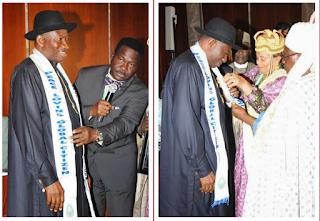 Photos: Pres. Jonathan receives Peace-Loving Global Citizen Award