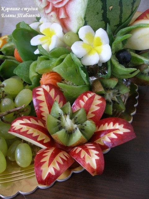 фруктовые нарезки карвинг на заказ южно-сахалинск
