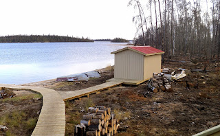 Fish House at Kapkik Lake Fly-In Outpost Cabin