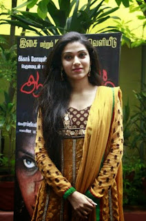 Actress Avantika Mohan Latest Pictures in Salwar Kameez at Aalamaram Movie Audio Launch  0010